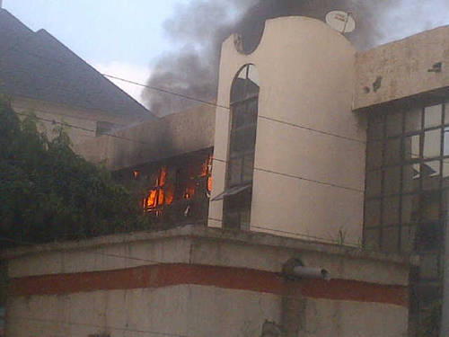Mysterious Fire Engulfs NFF Glass House