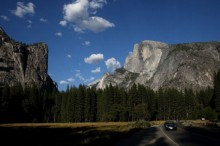 Yosemite National Park Remains Open As Rim Fire Continues In Burn On Park's Western Edge