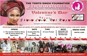 Tonto Dikeh To Celebrate Val With Orphans