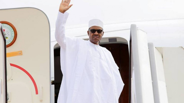 PHOTO NEWS: Buhari Leaves For Malabo