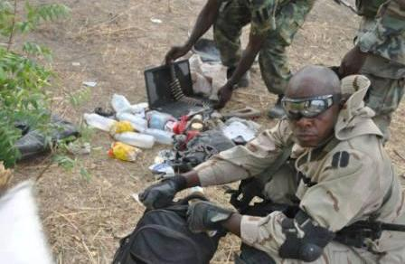 Fed troops have destroyed a Boko Haram IED factory at Gombole village in Konduga Local Government Area of Borno and rescued some women and children