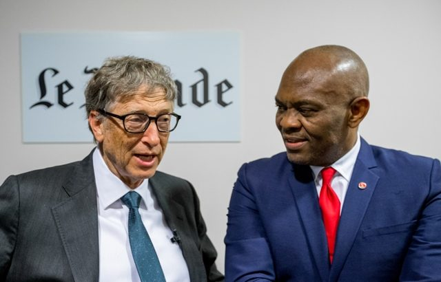 Philanthropists, Tony O. Elumelu, Bill Gates discuss the role of global philanthropy on business, politics and culture at Le Club de l'Economie hosted by Le Monde in Paris