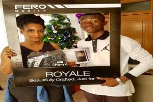 Juliet Ibrahim Presents Fero Mobile Phone to Contest Winner