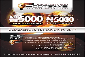 Footgame Gives N5,000 Every Hour to Football Lovers