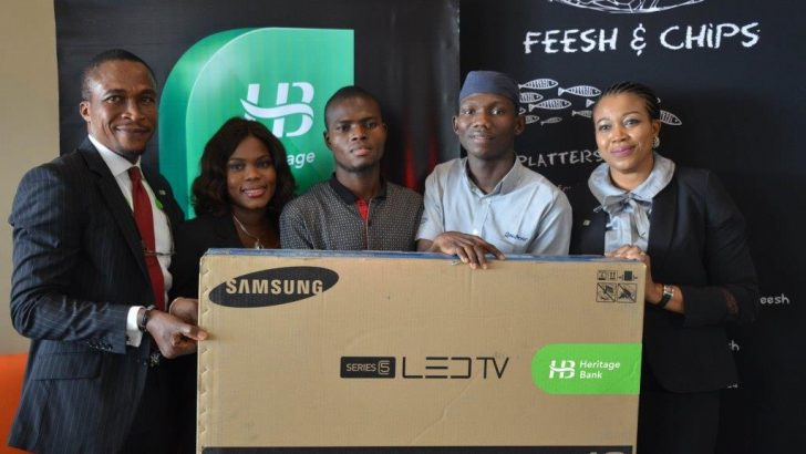 """Heritage Bank Presents 40"""" LED TV To Winners Of Happy Days Promo"""