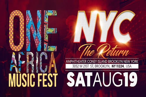 One Africa Music Fest Returns To New York In August
