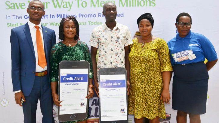 PHOTO: Two New Winners In Fidelity Bank Get Alert In Millions Reloaded Promo
