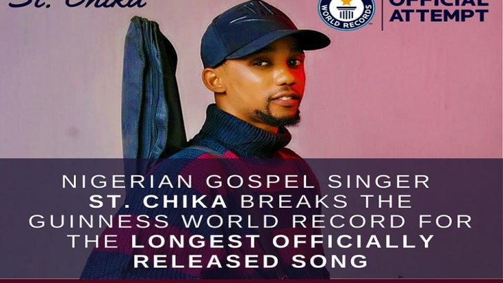 Nigerian Gospel Act, St Chika, Breaks 'Longest Officially Released Song' Record