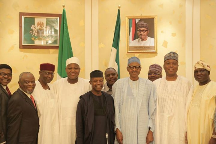 Buhari Meets NASS Leadership