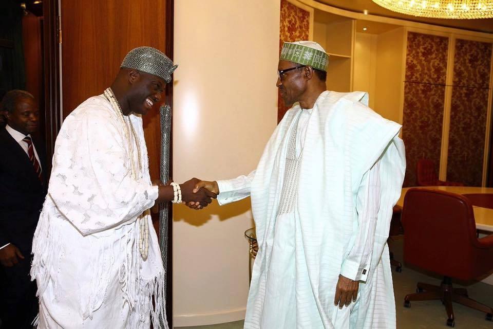 BREAKING: Ooni Visits Buhari At Villa (Photos)