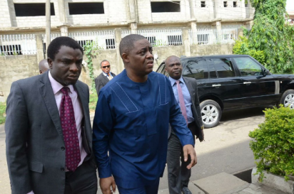 Fani-Kayode Storms EFCC Abuja Office (Photos)