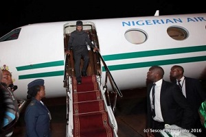Osinbajo Arrives Zambia (Photos)