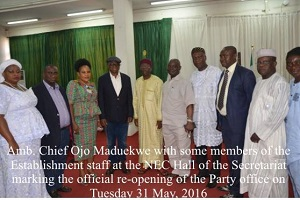 PDP National Headquarters Re-Opens