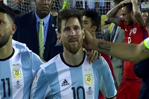 Messi Quits Int'l Football In Tears