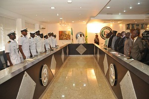 Amosun Hosts Flag Officer Western Naval Command