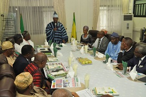Amosun Meets Organized Private Sector