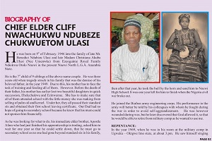 Elder C N Ulasi: 70 Garlands To An Icon And A Pillar Of Christ Church In Nigeria