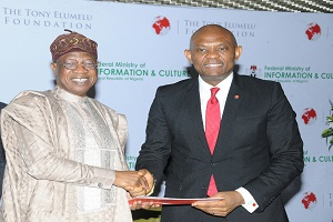The Tony Elumelu Foundation, Ministry Of Info And Culture Sign MoU To Strengthen Creative Industries