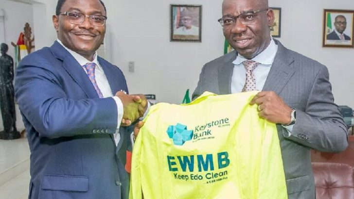 PHOTO NEWS: Keystone Bank Partners Edo Government On Waste Management