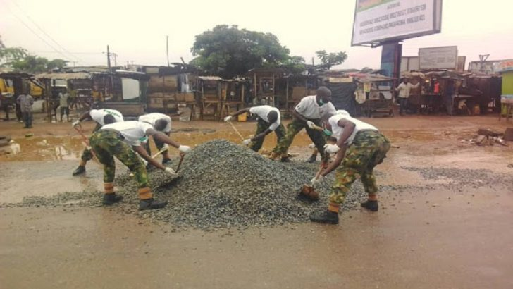 192 Battalion Rehabilitates Atan Road To Mark Armed Forces Day