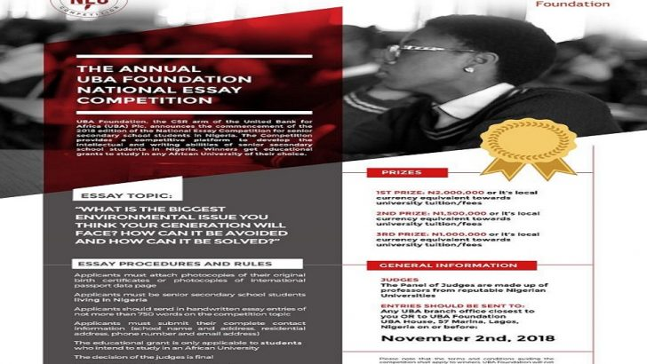 UBA Seeks Entries For National Essay Competition