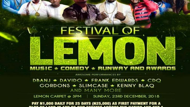 Celebs, Dignitaries to Storm Andron Homes Festival of Lemon