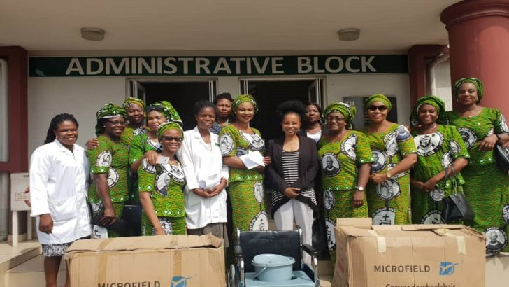 PHOTOS: Ladies of Order of Knights of St. Mulumba Donate Medical Equipment