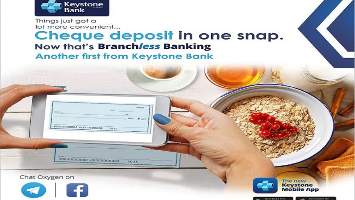 Keystone Bank Introduces First 'Cheque Deposit' in Mobile App in Nigeria
