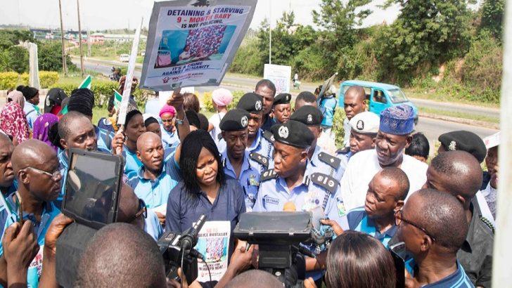 Women Arise Protests Detention Of Nursing Mother, Toddler