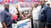 Dangote Promo: 64-year-old Bricklayer, 20-year-old Artisan Win Star Prize Saloon Cars in Ijebu-ode, Ikorodu