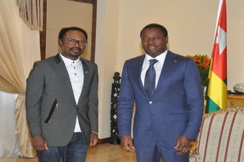 iginla visits president of togo