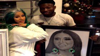 Cardi B Meets Celebrity Pencil Artist Alesh Akeem