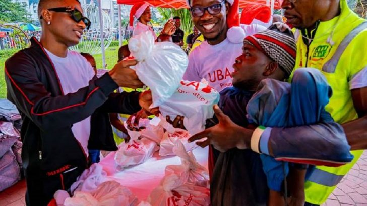 Uzoka, Wizkid Give Back to Thousands at UBA Foundation Food Bank