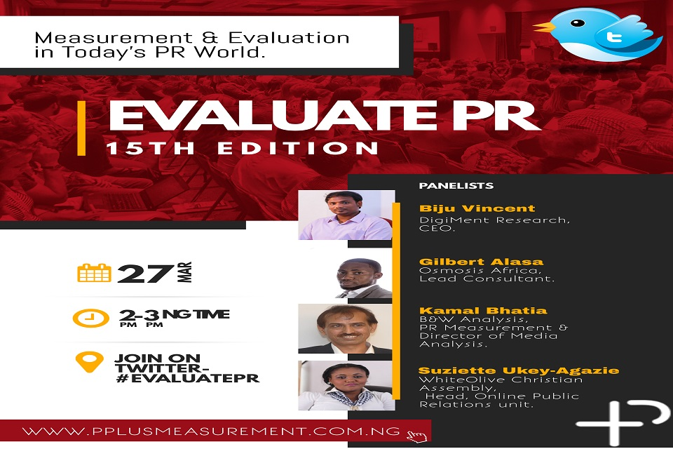 EVALUATE PR 15TH EDITION