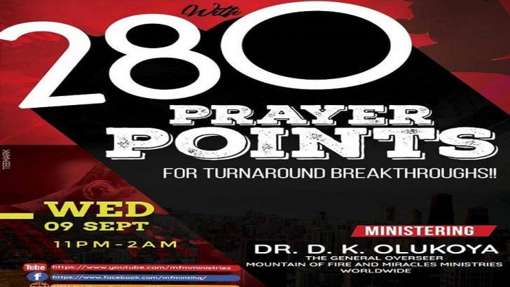 Olukoya to Hold Possess the Gates Prayer Session September 9