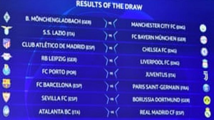 Barcelona Tackles PSG In Champions League Round Of 16 Draw